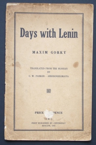 Image for Days with Lenin