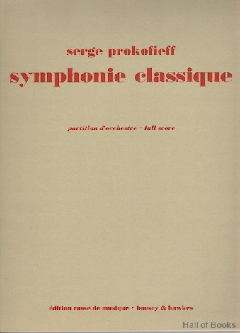 Image for Symphonie Classique. Op. 25. Partition d'orchestra. Full Score.