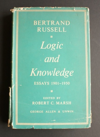 Image for Logic and Knowledge. Essays 1901 - 1950