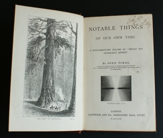 "Image for ""Notable Things. A supplementary volume of """"things not generally known."""""""