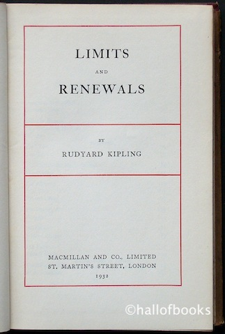 Image for Limits and Renewals
