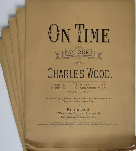 Image for On Time. An Ode by Charles Wood. String Parts.