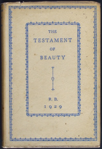 Image for The Testament of Beauty. A poem in Four Books