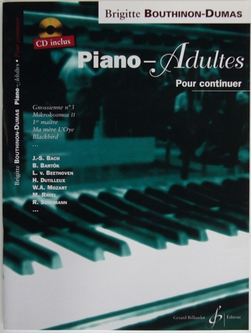 Image for Piano - Adultes. Pour continuer.