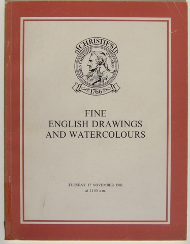Image for Fine English Drawings and Watercolours. Tuesday 17 November 1981