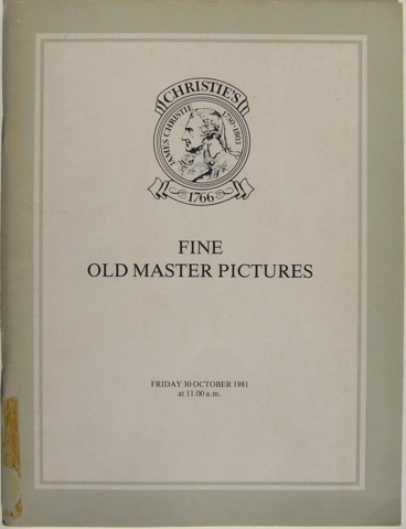 Image for Fine Old Master Pictures. Friday 30th October 1981