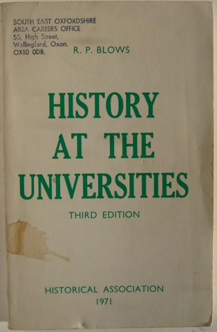 Image for History at the Universities.