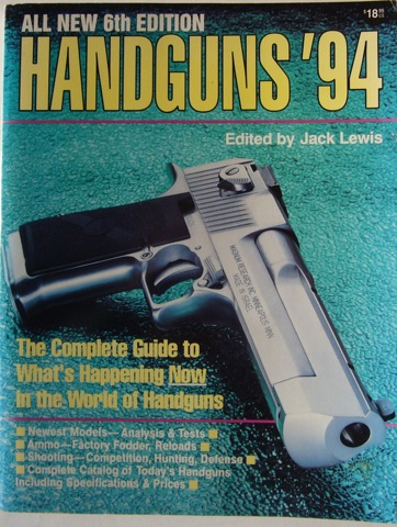 Image for Handguns '94. All New 6th Edition. The Complete Guide to What's Happening Now in the World of Handguns