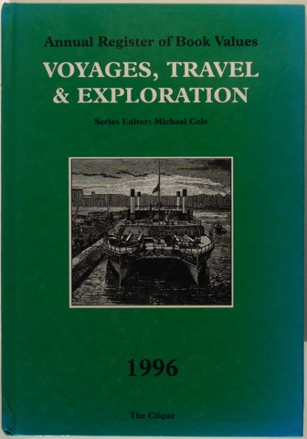 "Image for ""Annual Register of Book Values: Voyages, Travel & Exploration 1996."""