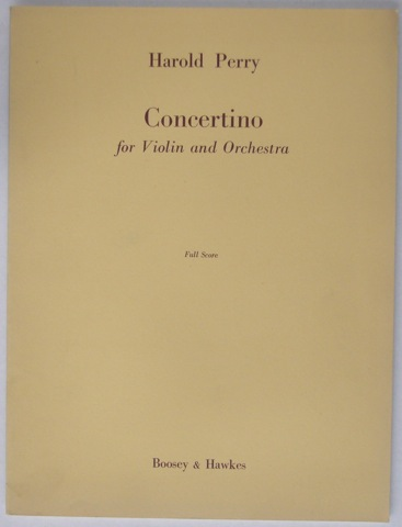 Image for Concertino for Violin and Orchestra. Full Score