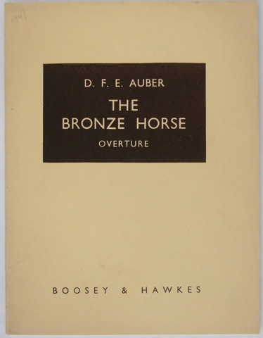 Image for The Bronze Horse Overture. Full Score