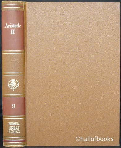 "Image for ""The Works of Aristotle: Volume II. Great Books of the Western World, Volume 9"""
