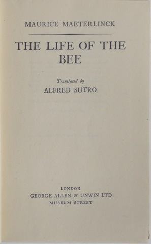 Image for The Life of the Bee