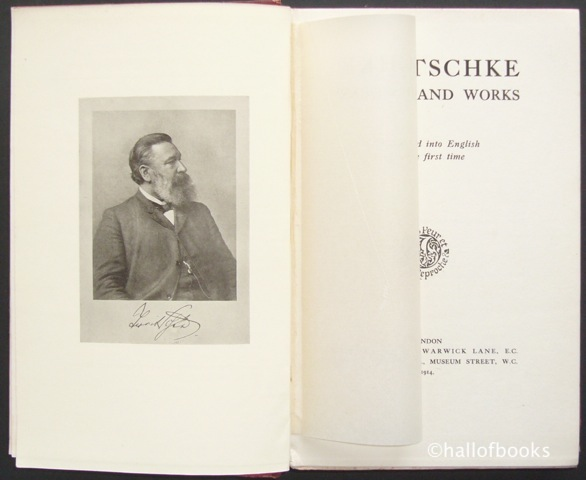 Image for Treitschke His Life and Work