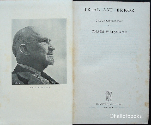 Image for Trial and Error: The autobiography of Chaim Weizmann