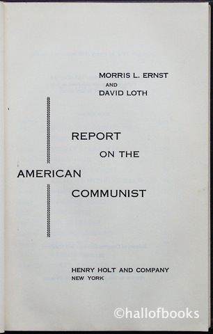 Image for Report On The American Communist