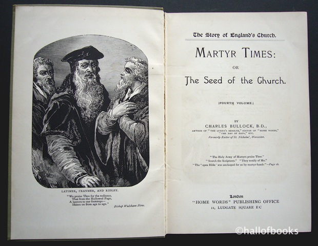 Image for Martyr Times: Or The Seed of the Church. Fourth Volume.