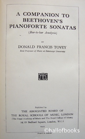 Image for A Companion To Beethoven's Pianoforte Sonatas (Bar-to-bar Analysis)