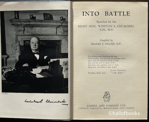 "Image for ""Into Battle: Speeches by the Right Hon. Winston S. Churchill, C. H., M. P."""