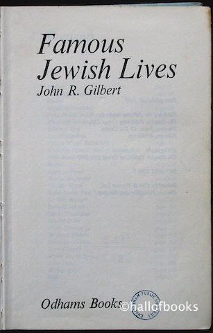 Image for Famous Jewish Lives