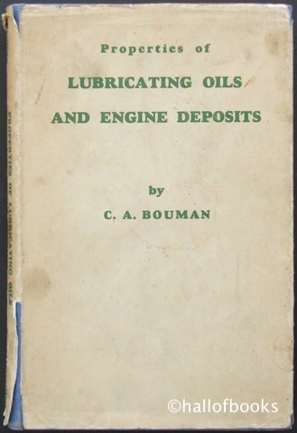 Image for Properties of Lubricating Oils and Engine Deposits