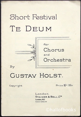 Image for Short Festival Te Deum for Chorus and Orchestra
