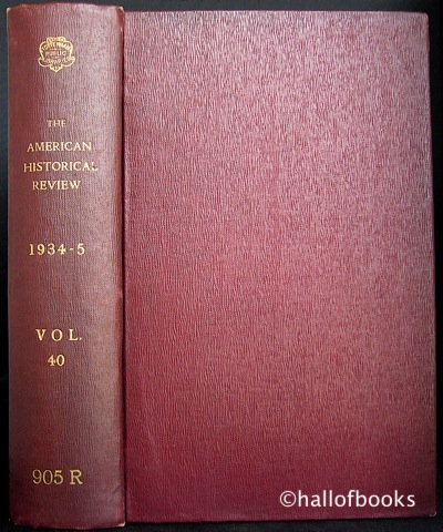 "Image for ""The American Historical Review. Volume XL October, 1934 to July, 1935"""