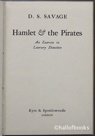 Image for Hamlet & The Pirates: AN Exercise In Literary Detection