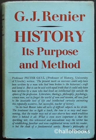 Image for History: Its Purpose And Method