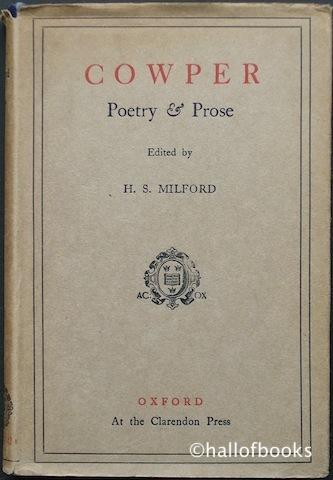 Image for Cowper Poetry and Prose: With Essays By Hazlitt & Bagehot