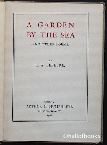 Image for A Garden By The Sea And Other Poems