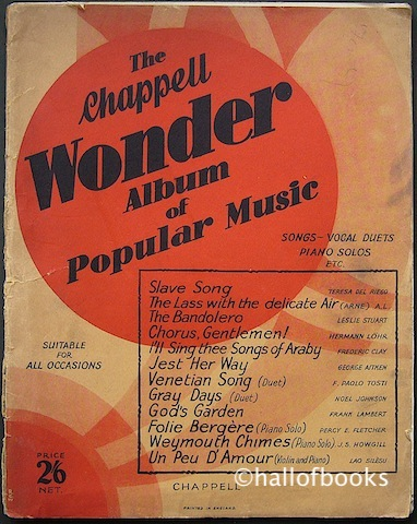 Image for The Chappell Wonder Album of Popular Music