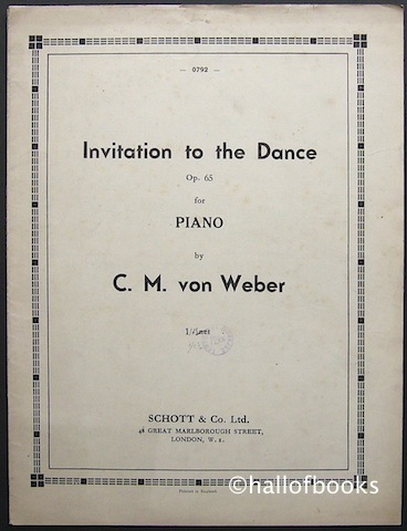 Image for Invitation to the Dance Op.65 for Piano
