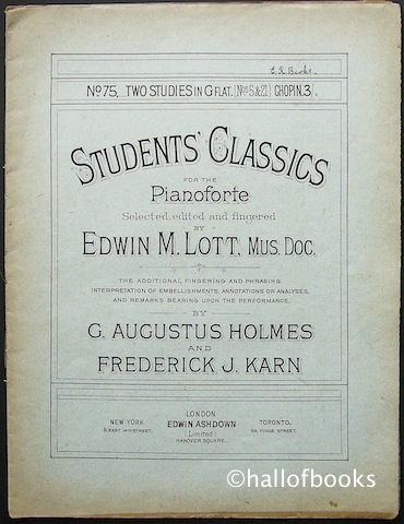 Image for Student's Classics for the Pianoforte. No.75: Two Studies in G Flat (Nos 5 & 21) by Chopin