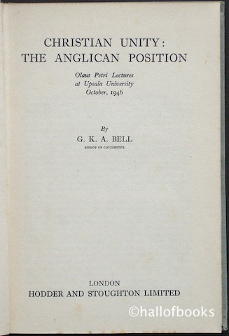 Image for Christian Unity: The Anglican Position