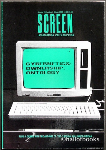 "Image for ""Screen Incorporating Screen Education: Cybernetics: Ownership Ontology. Volume 29, Number 1, Winter 1988"""