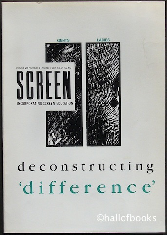 "Image for ""Screen Incorporating Screen Education: deconstructing difference. Volume 28, Number 1, Winter 1987"""