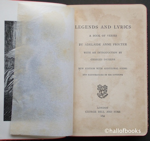 Image for Legends and Lyrics: A Book of Verses.