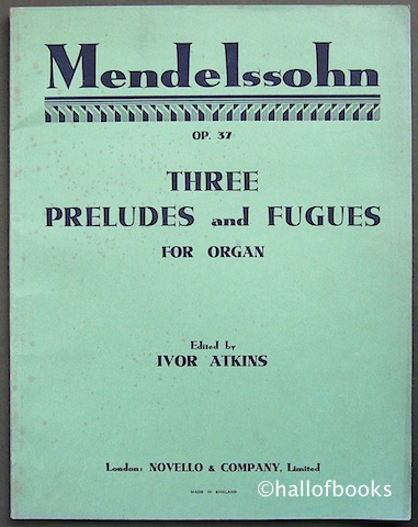 Image for Three Preludes and Fugues for Organ. Op. 37