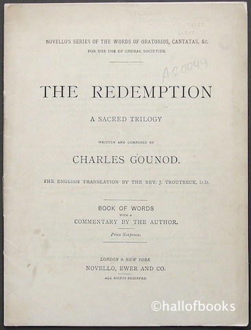 Image for The Redemption: A Sacred Trilogy. Book of Words with a Commentary by the Author