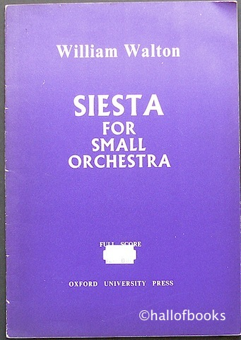 Image for Siesta For Small Orchestra: Full Score