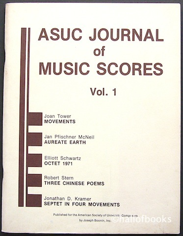 Image for ASUC Journal of Music Scores Vol. 1