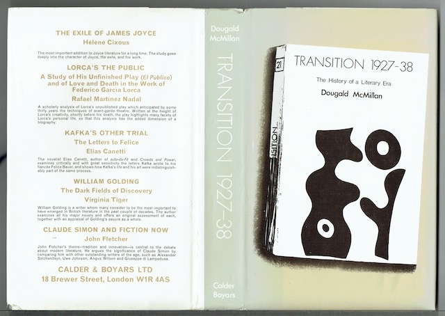 Image for Transition: The History of a Literary Era 1927-1938