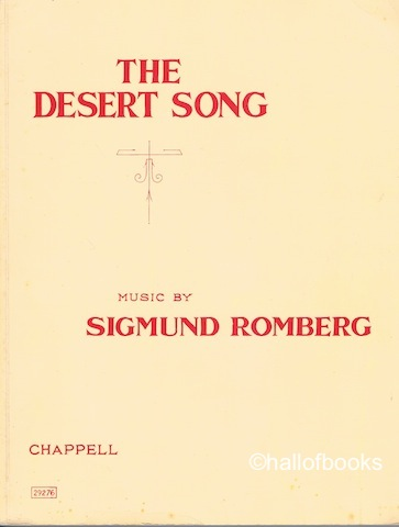 "Image for ""The Desert Song (Theatre Roya,l Drury Lane): A Musical Play. Vocal Score"""
