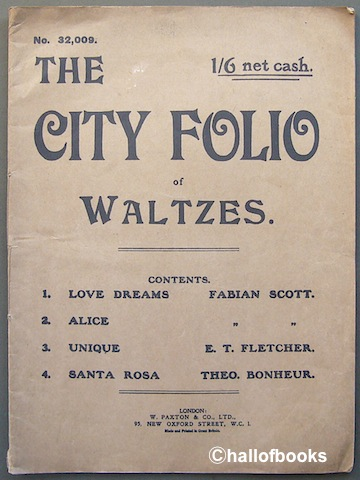 Image for The City Folio. 2nd Album of Waltzes