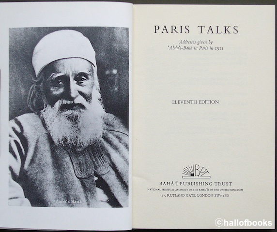 Image for Paris Talks: Addresses given by Abdu'l-Baha in Paris in 1911