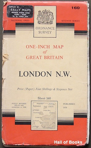 Image for London N. W: One-Inch Map of Great Britain. Sheet 160. National Grid Seventh Series.
