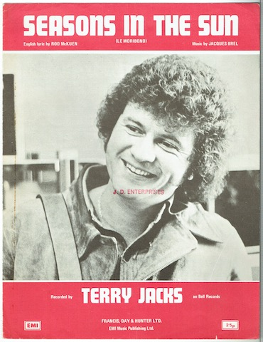 Image for Seasons In The Sun. Recorded by Terry Jacks