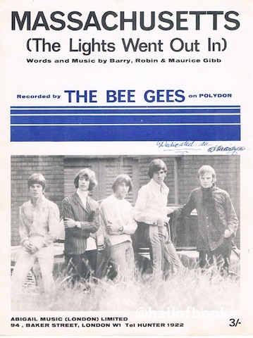 Image for Massachusetts (The Lights Went Out In). Recorded by The Bee Gees