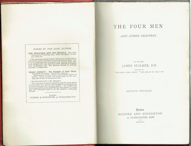 Image for The Four Men And Other Chapters
